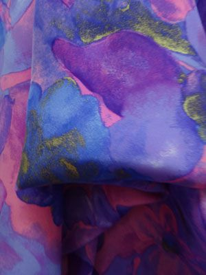Purple silk fabrics