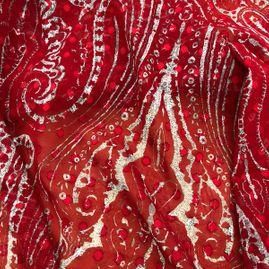 red colour cotton fabric